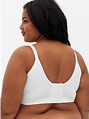 White Lightly Lined Longline Everyday Wire-Free Bra, CLOUD DANCER, alternate
