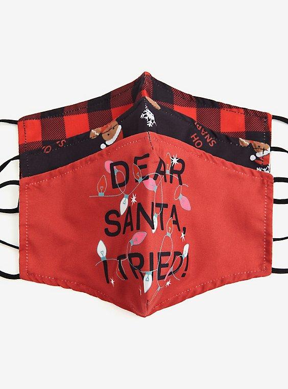 Dear Santa Holiday Non-Medical Reusable Masks - Pack of 3 , , hi-res