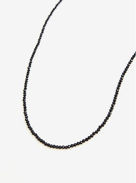 Black Beaded Face Mask Chain, , alternate