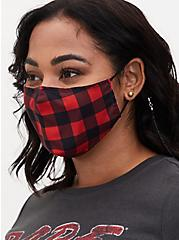 Black Beaded Face Mask Chain, , hi-res