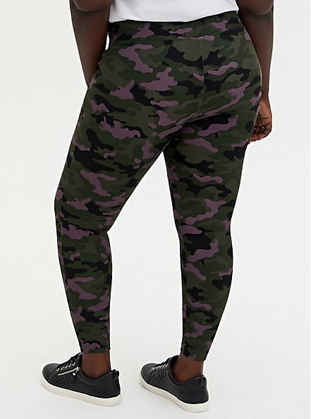 Studio Premium Ponte Slim Fix Pull-On Pixie Pant - Camo Dusty Purple, CAMO, alternate