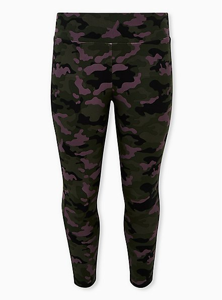 Studio Premium Ponte Slim Fix Pull-On Pixie Pant - Camo Dusty Purple, CAMO, hi-res