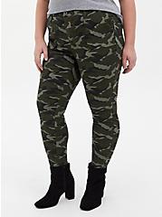 Sky High Twill Skinny Pant - Camo, CAMO-GREEN, alternate