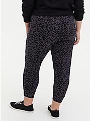Relaxed Fit  Jogger - Ponte Leopard Dark Grey, , alternate
