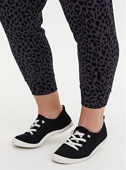 Relaxed Fit  Crop Jogger - Ponte Leopard Dark Grey, , alternate