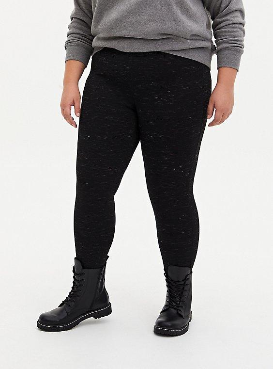 Studio Premium Ponte Slim Fix Pull-On Pixie Pant - Space Dye Black , SPACE DYE, hi-res