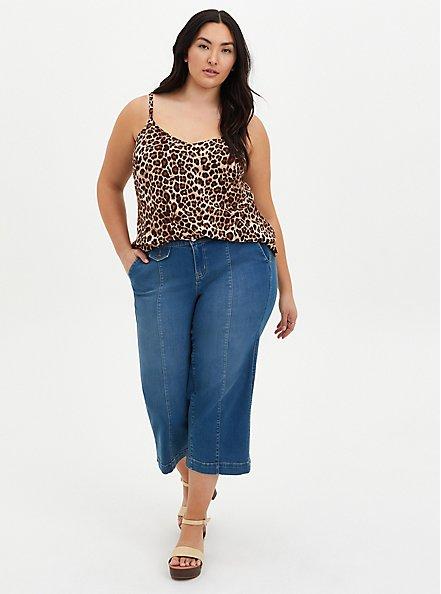 Ava - Leopard Stretch Challis Cami, LEOPARD - BROWN, alternate