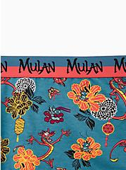 Disney Pixar Mulan Mushu & Cri-Kee Flower Teal Cotton Boyshort Panty, MULTI, alternate