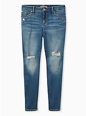 Mid Rise Skinny Jean - Vintage Stretch Medium Wash, BACKSEAT BINGO, hi-res