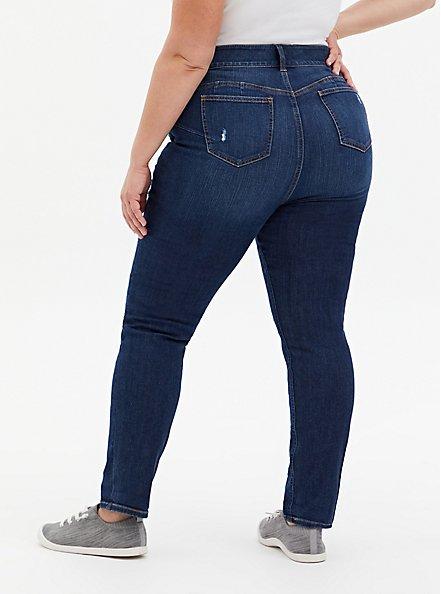Bombshell Straight Jean - Premium Stretch Eco Dark Wash, TOPANGA, alternate
