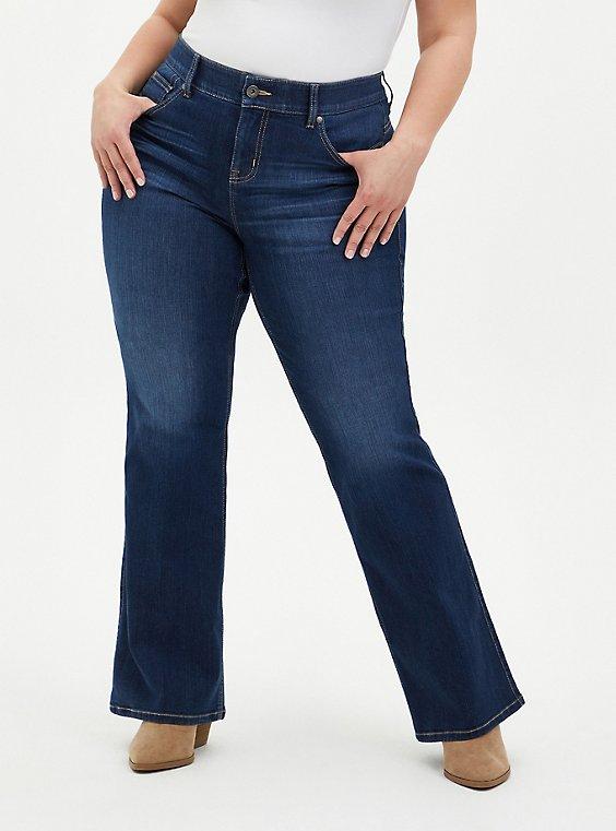 Bombshell Flare Jean - Premium Stretch Eco Medium Wash, HOLLYWOOD, hi-res