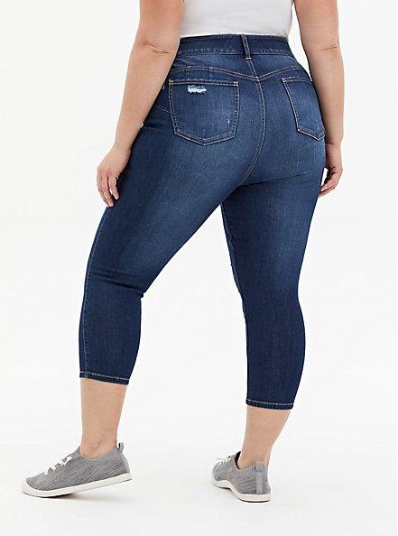 Crop Bombshell Skinny Jean - Premium Stretch Eco Medium Wash, HOLLYWOOD, alternate