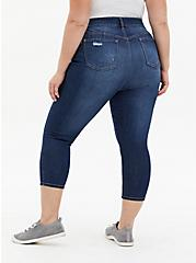 Crop Bombshell Skinny Jean - Premium Stretch Eco Medium Wash, HOLLYWOOD, alternate