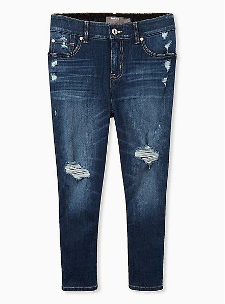 Crop Bombshell Skinny Jean - Premium Stretch Eco Medium Wash, HOLLYWOOD, hi-res