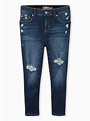 Crop Bombshell Skinny Jean - Premium Stretch Eco Medium Wash, HOLLYWOOD, hi-res