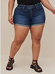 Mid Rise Midi Short - Super Soft Eco Medium Wash, HYDROSPHERE, hi-res