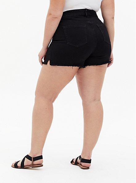 High Rise Mid Short - Vintage Stretch Black, DEEP BLACK, alternate