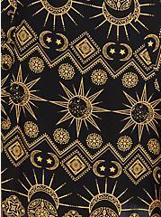 Black Eclipse Challis Tea Length Skirt, OTHER PRINTS, alternate