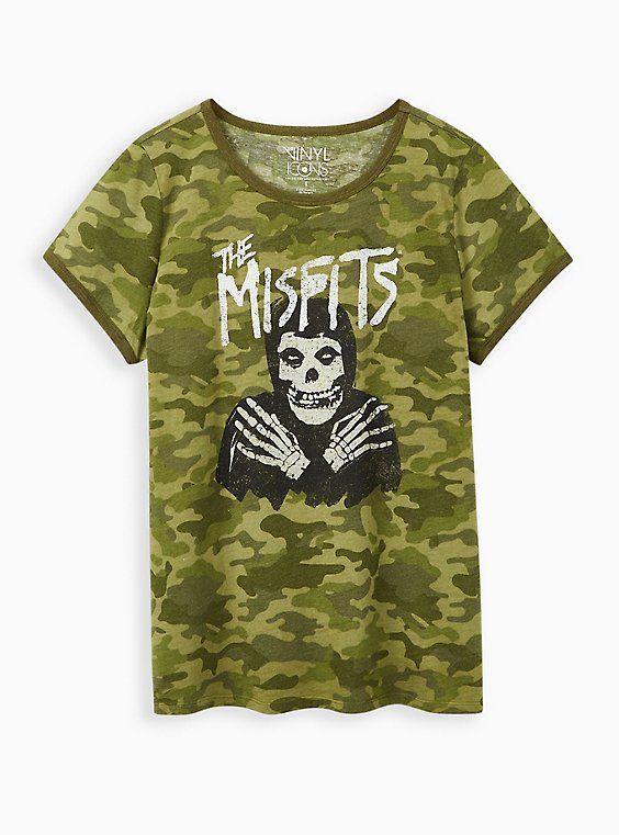 Classic Fit Ringer Tee - The Misfits Camo, CAMO-GREEN, hi-res