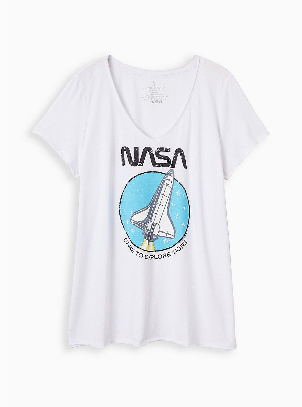 Classic Fit V-Neck Tee - NASA White, BRIGHT WHITE, hi-res
