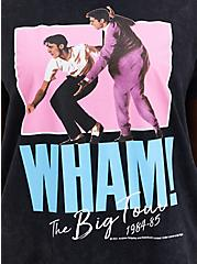 Classic Fit Crew Tee - Wham! Mineral Wash Black , DEEP BLACK, alternate