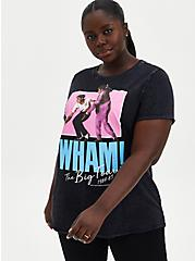 Classic Fit Crew Tee - Wham! Mineral Wash Black , DEEP BLACK, hi-res