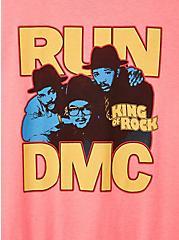 Run DMC Pink Crew Tee, PINK, alternate