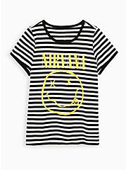 Nirvana Classic Fit Ringer Tee - Black & White Stripe, BLACK WHITE STRIPE, hi-res
