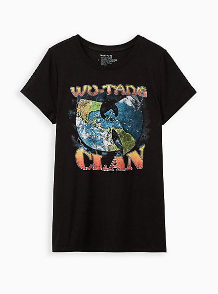 Wu Tang Clan Black Crew Tee, DEEP BLACK, hi-res
