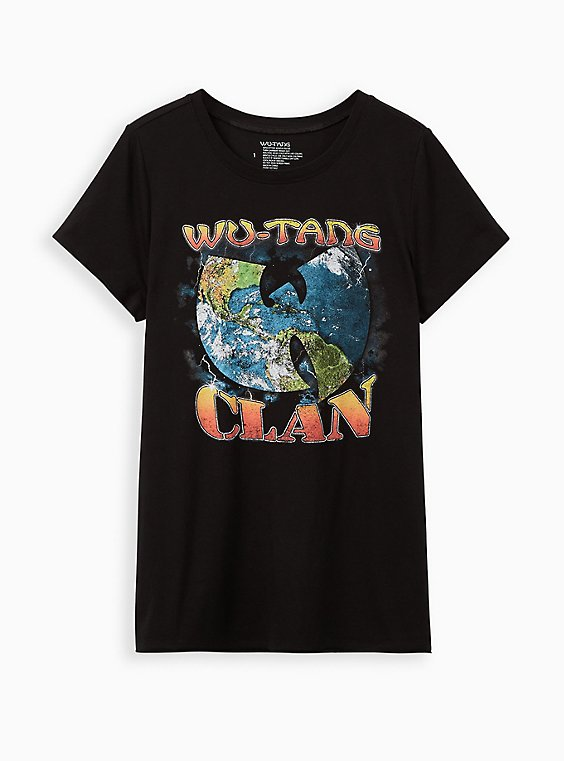 Classic Fit Crew Tee - Wu Tang Clan Black, , hi-res