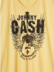 Classic Fit V-Neck Tee - Johnny Cash Yellow , YELLOW, alternate