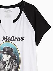 Classic Fit Raglan Tee - Tim McGraw White & Black, BRIGHT WHITE, alternate