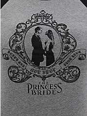 Classic Fit Raglan Tee -  The Princess Bride Grey, MEDIUM HEATHER GREY, alternate
