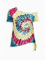 Off-Shoulder Tee - Grateful Dead Rainbow Tie-Dye , MULTI, hi-res