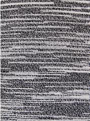 Black & White Stripe Space-Dye Cardigan Sweater, MULTI, alternate