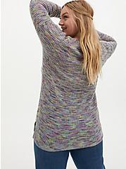 Rainbow Slub Drop Shoulder Sweater, MULTI, alternate