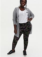Heather Grey Hooded Anorak Sweater, HEATHER GREY, alternate