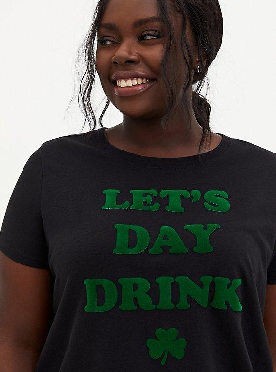 Day Drink Slim Fit Tee - Black, , hi-res