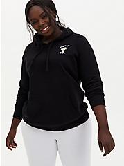 Black Snoopy Fleece Hoodie, DEEP BLACK, alternate