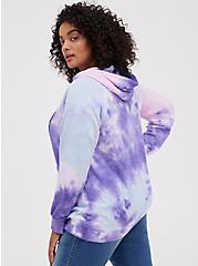 Polaroid Purple Wash Fleece Tunic Hoodie, MULTI, alternate