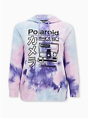 Polaroid Purple Wash Fleece Tunic Hoodie, MULTI, hi-res