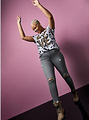 Betsey Johnson Classic Fit Tee - Triblend Jersey Love Tie-Dye Multi, MULTI, alternate