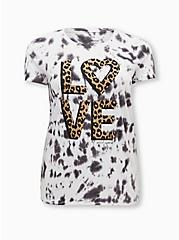 Betsey Johnson Classic Fit Tee - Triblend Jersey Love Tie-Dye Multi, MULTI, hi-res
