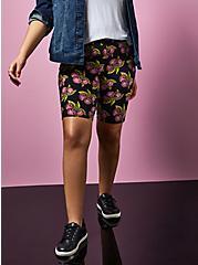 Betsey Johnson Black Cherry Bike Short, MULTI, alternate