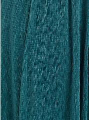 Pine Green Crinkle Knit Surplice Midi Skater Dress, SILVER PINE, alternate