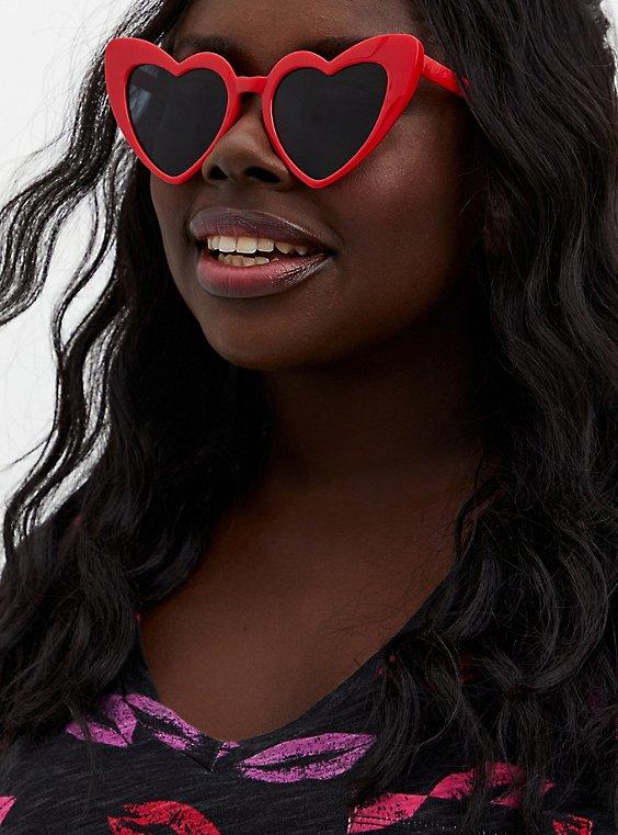 Red Heart Cat Eye Sunglasses, , hi-res