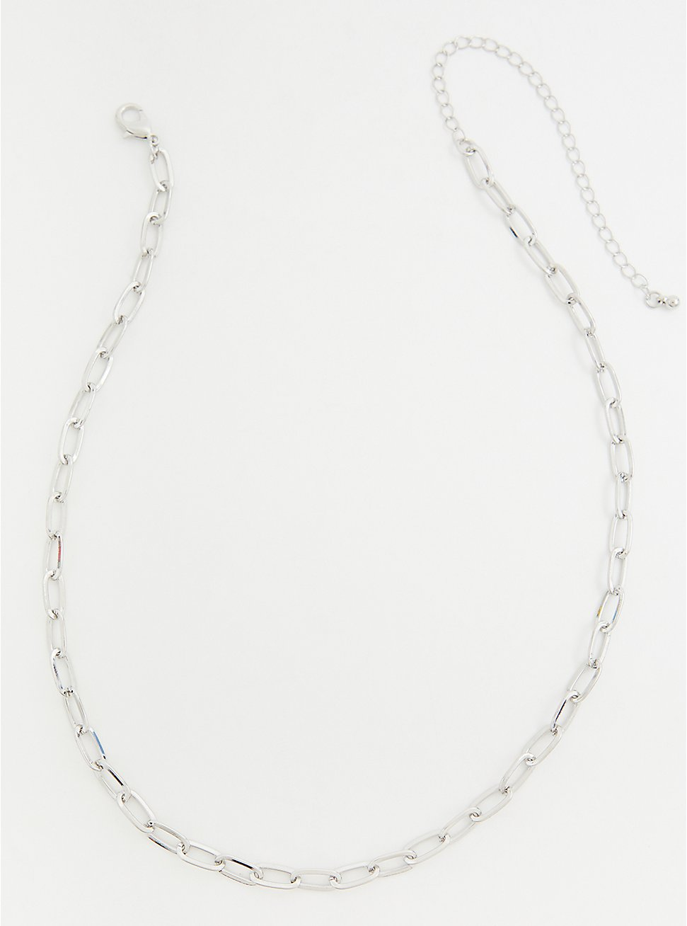 Silver-Tone Chain-Link Necklace, , hi-res