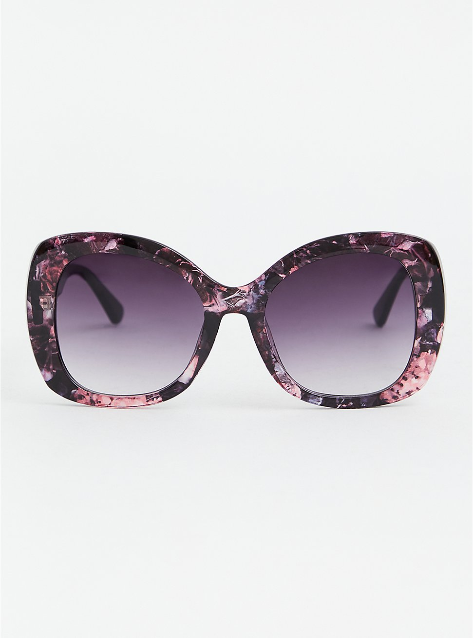 Floral Square Oversized Sunglasses, , hi-res