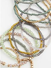 Multi Beaded Stretch Bracelet Set - Set of 13, MULTI, alternate