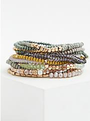 Multi Beaded Stretch Bracelet Set - Set of 13, MULTI, hi-res